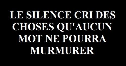 Le Silence ...