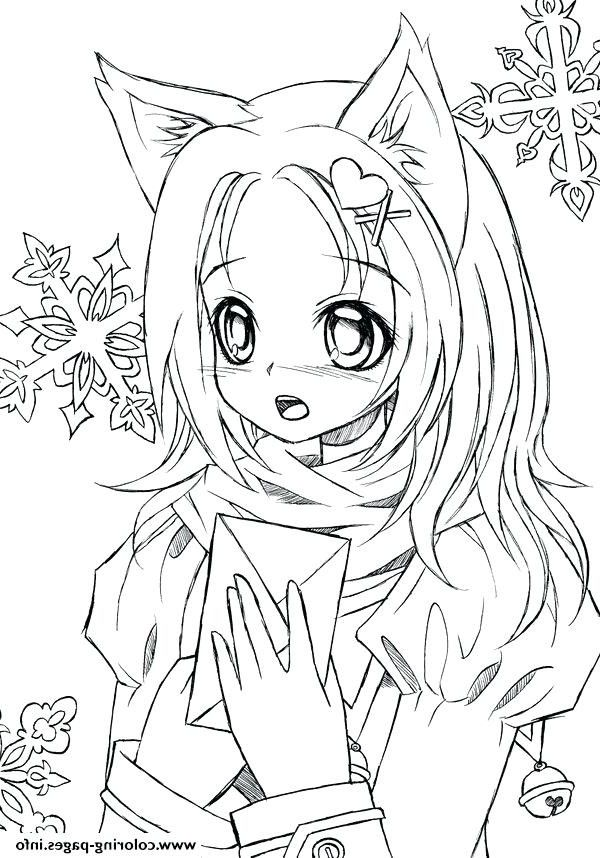 Elegant Anime Coloring Pages For Adults Mermaid Coloring Pages Cartoon Coloring Pages Cat Coloring Page