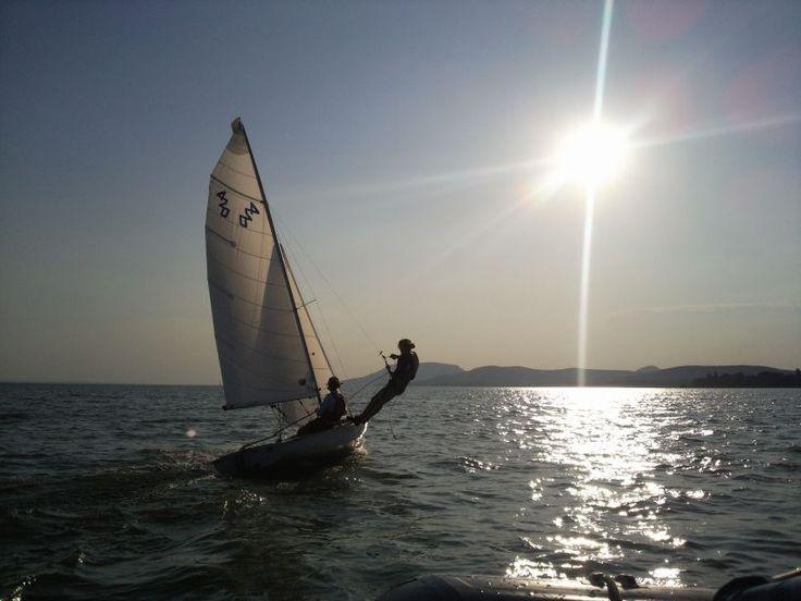 Sailing at the lake Balaton. #summer #sailing #lake #water #sport #sailor