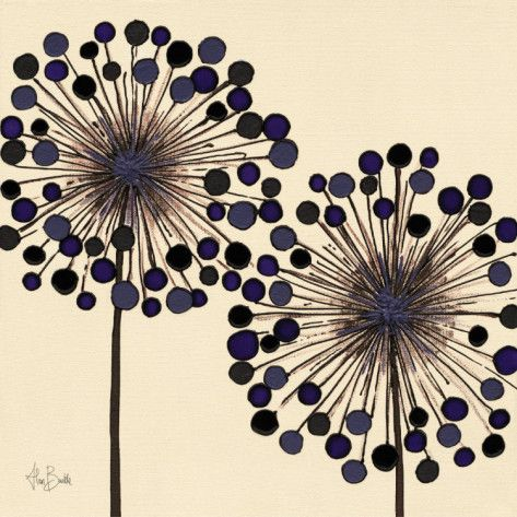 'Lilac Bubble Duo' by Scottish artist Alan Buckle. via art.com