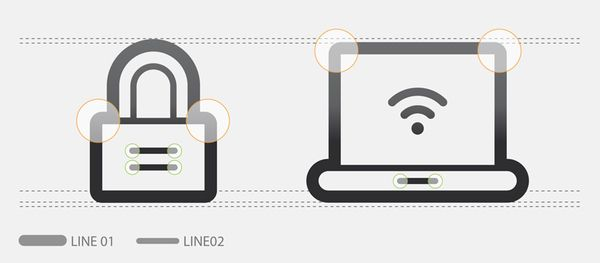 Contour stock icons by Tom Nulens, via Behance