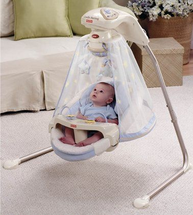 Fisher Price Comfy Cradle 39 N Swing Starlight Papasan