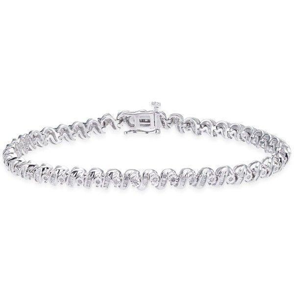 Diamond Tennis Bracelet 1 Ct T W In Sterling Silver 4463440 Pyg Liked On Poly Bracelets Gold Diamond Beautiful Jewelry Bracelet Tennis Bracelet Diamond