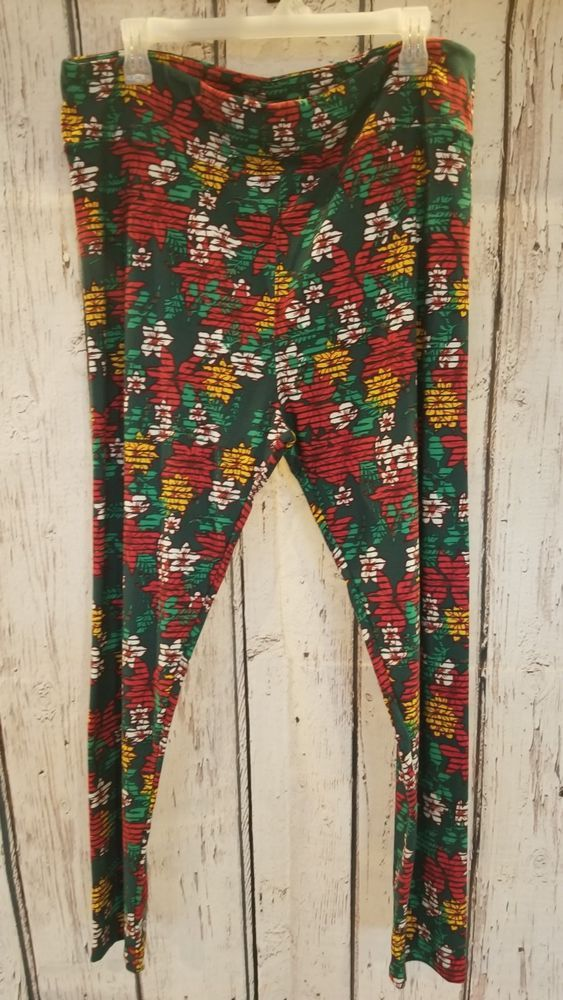 166668fbaf3ad2 Women's vintage Christmas LULAROE leggings green/red poinsettias sz Tall # fashion #clothing #shoes #accessories #womensclothing #leggings (ebay link)