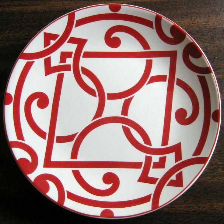 Decorative Dishes - Mini Bold Red on White Moorish Geometric Chic Scroll Plate, $9.99 (http://www.decorativedishes.net/mini-bold-red-on-white-moorish-geometric-chic-scroll-plate/)