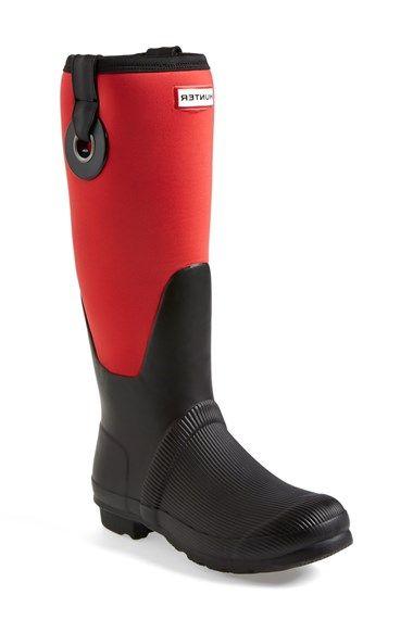 Women's Hunter 'Original Scuba' Eyelet Waterproof Rain Boot,