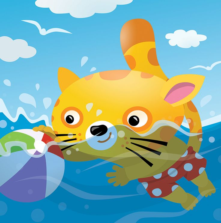 Alphabetik -published by Pearson Erpi, #water, #fun, #swimming, #cat, #summer, #playing