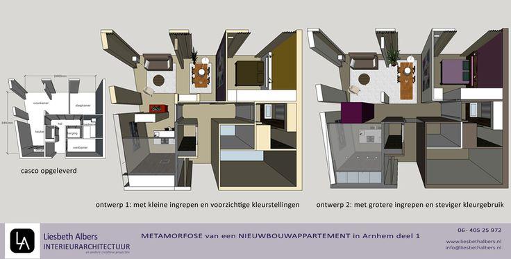 Liesbeth Albers interieurarchitectuur: casco appartement ontwerp