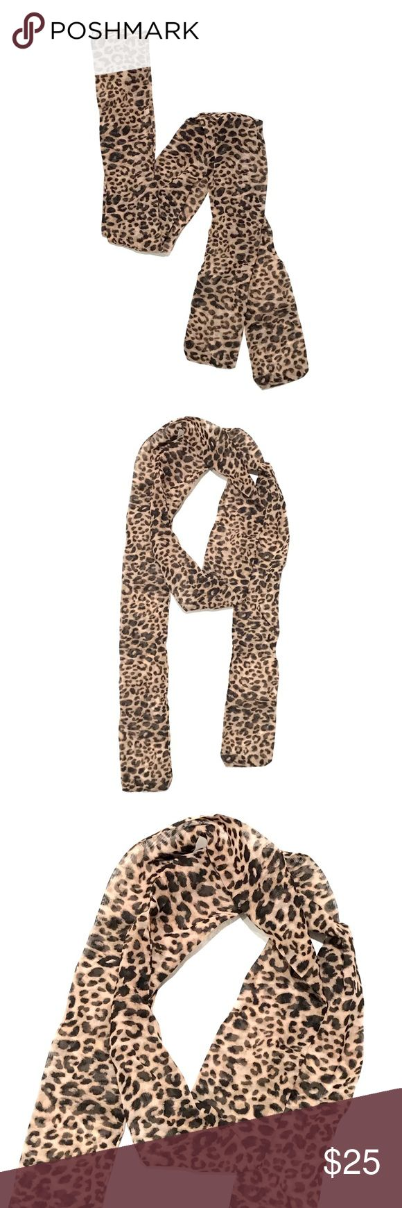 Cheetah / Leopard Print Skinny Wrap Scarf This lightweight neckerchief is the perfect way to top off any outfit. Wear it around your neck or tie it on your purse strap. The animal print will complement all of your sweaters and moto jackets this season.  * PacSun Cheetah / Leopard Print Skinny Wrap Scarf * Skinny * Lightweight * 3'' x 70''  * 100% polyester * New with tags! PacSun Accessories Scarves & Wraps