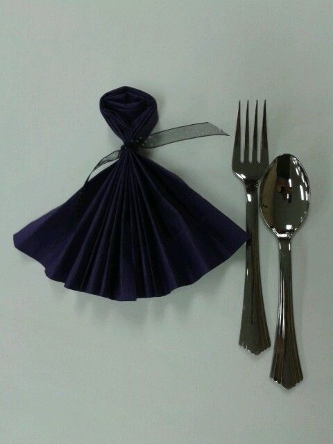 Dress napkin settings I made for the sisters at pioneer school