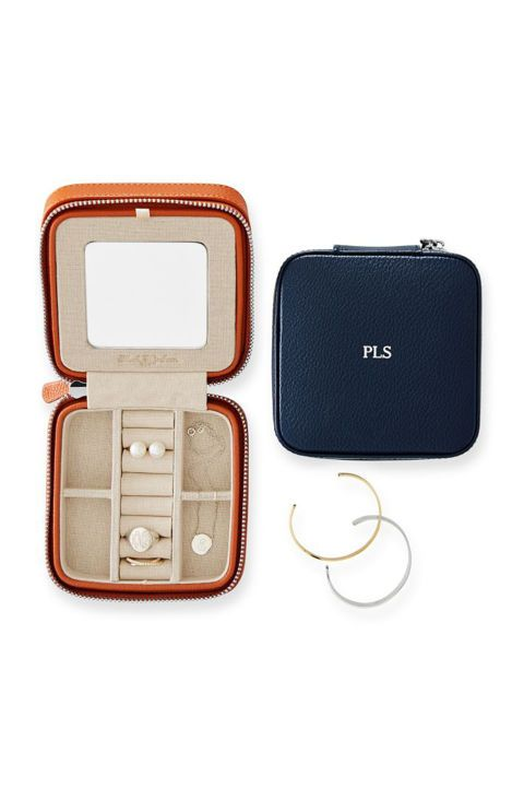 What's more thoughtful than embroidered pajamas with your BFF's nickname, a leather-bound notebook embossed with your brother's name, or a monogrammed sweater your mom would adore?   Mark & Graham Travel Jewelry Case, $65; markandgraham.com