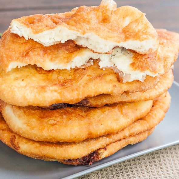 "Fried Dough Filled with Feta Cheese a.k.a. ""Langosi cu Branza"" 