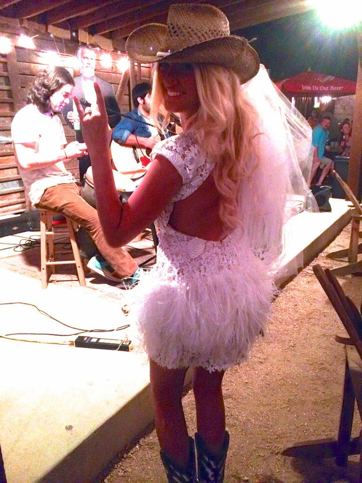 I will wear a dress like this for my bachelorette party. But not the boots and the hat