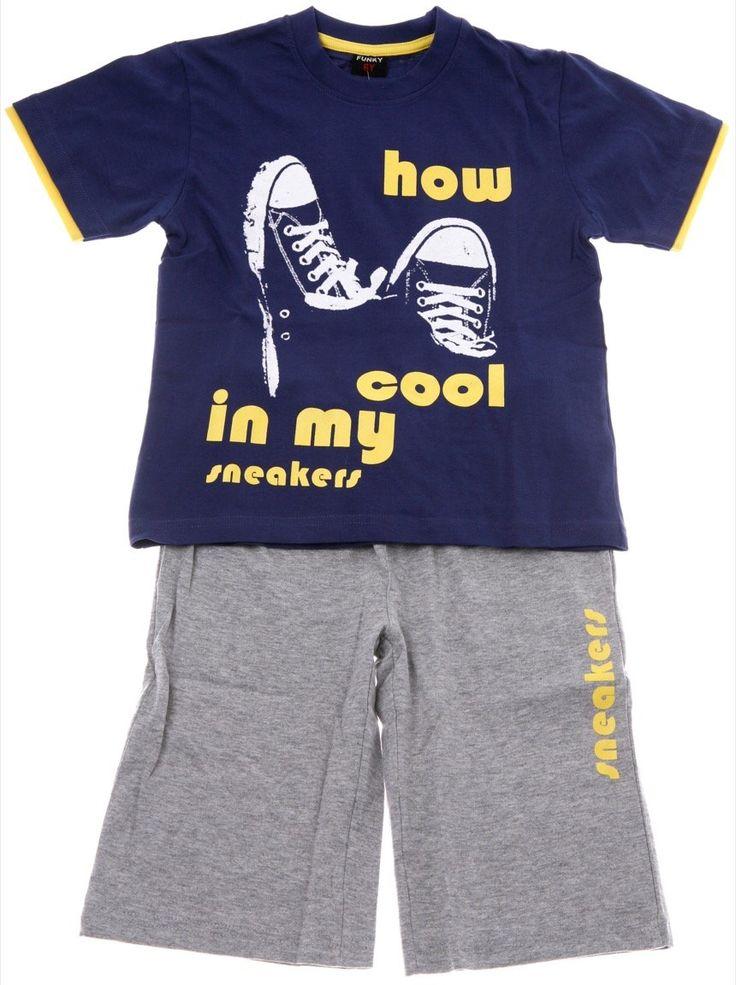 Funky παιδικό σετ μπλούζα-παντελόνι βερμούδα «How Cool» - Παιδικά ρούχα AZshop.gr