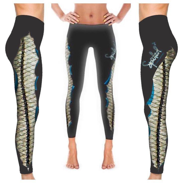 New Snook Skin Leggings Available Exclusively at SpooledFishingApparel.com  #snook #fishinggirl #girlsfishtoo