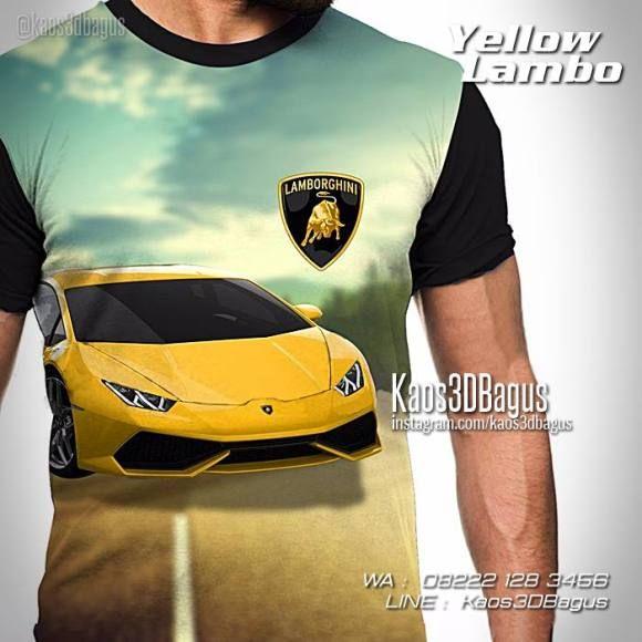 Kaos LAMBORGHINI, Kaos Mobil Sport, Kaos Super Car, Kaos 3D Yellow Lamborghini, WA : 08222 128 3456, LINE : Kaos3DBagus, https://kaos3dbagus.wordpress.com/2016/04/29/kaos-mobil-3d-kaos-3d-gambar-mobil-kaos-klub-mobil-indonesia/