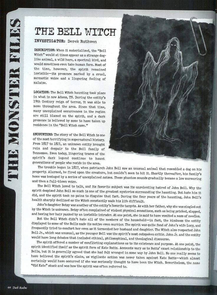 The Bell Witch pg 1
