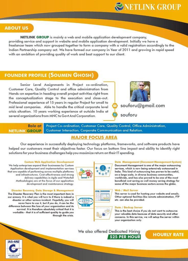 Focus Area Mobile application development, Application
