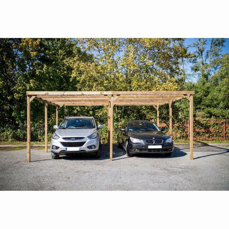 Carport en bois foresta pour deux voitures garages bricolages carport bois garage et voiture - Garage pour deux voitures ...