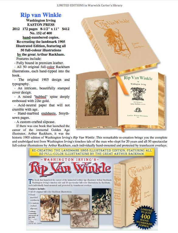 Rip van Winkle : Washington Irving - EASTON PRESS