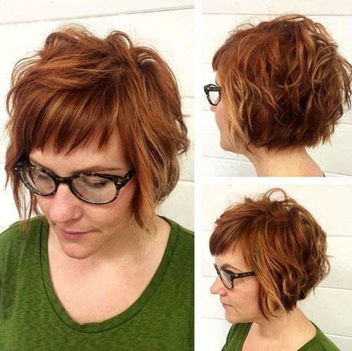 Smaller section of short bangs with longer layered bangs on top.  Sort of like this, but not.