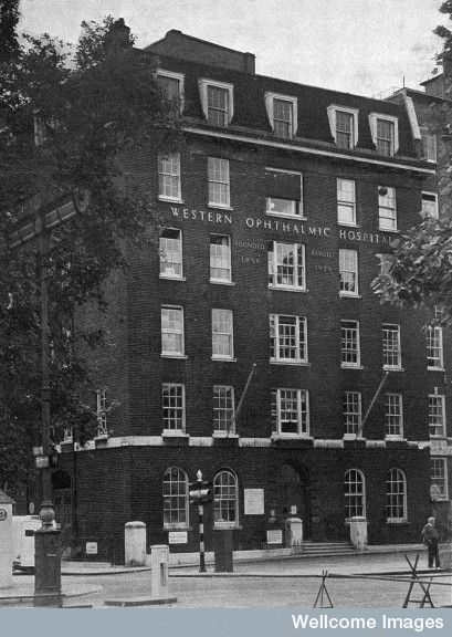 Western Ophtalmic Hospital, 1956. From: Centenary Souvenir booklet  Published:   1856-1956