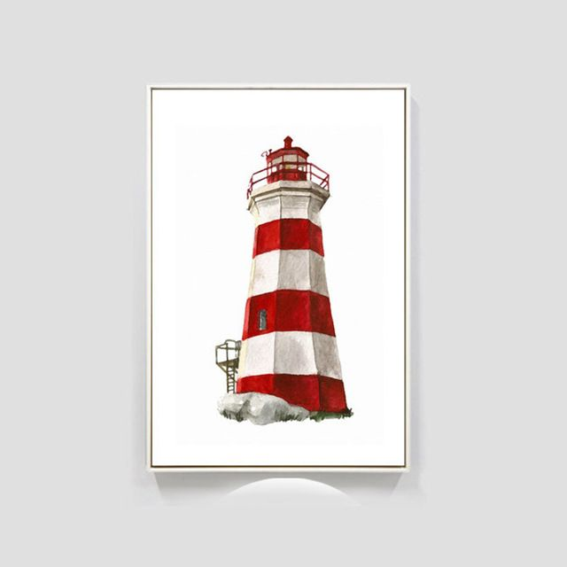 HAOCHU Nordic Mediterranean Sea Lighthouses Print Art Poster Abstract Canvas Painting Home Kids Room Wall Decor-in Painting & Calligraphy from Home & Garden on Aliexpress.com | Alibaba Group