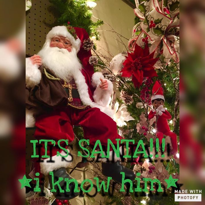 Christmas funny humor quote from Elf. S'more the Elf on the Shelf idea. It's Santa! I know him!