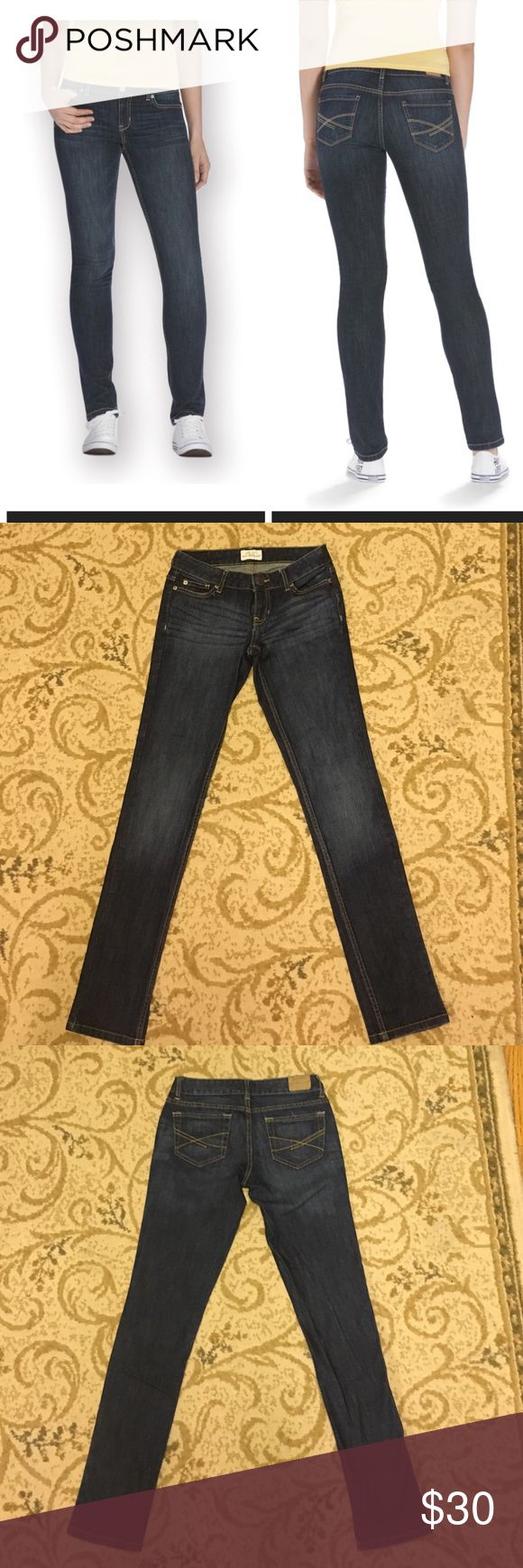 Dark wash Bayla , skinny curvy jean! Size 0Long These are Bayla, skinny curvy jeans by Aeropostale,  size 0 Long! dark wash and in great condition! Please, make an offer! Aeropostale Jeans Skinny
