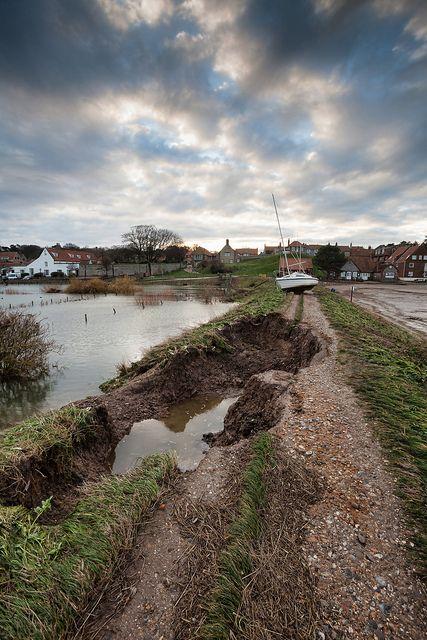 Blakeney | Flickr - Photo Sharing!  Storm surge damage on the Blakeney bank.