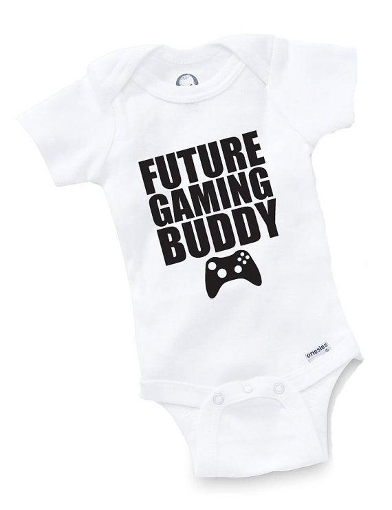 Future Gaming Buddy Onesie Bodysuit Baby Shower Gift Funny Boy Girl Family Gamer Video Game Geek Nerd Cute Gaming Arcade on Etsy, $9.99