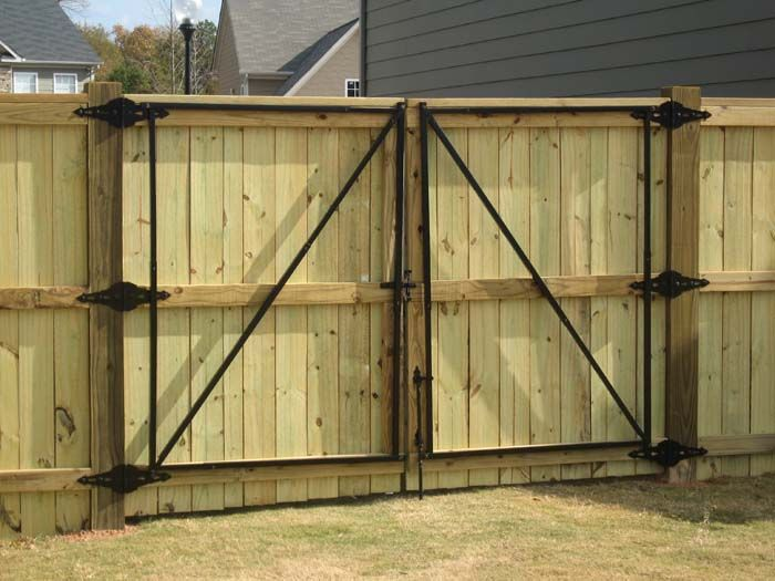 Privacy Fence Double Gate Sagging Gates Installed By
