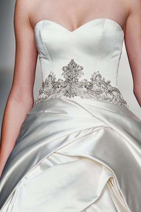 Beaded wedding dress from Kenneth Pool, Fall 2013