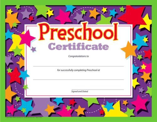 PRE-SCHOOL CERTIFICATE (Pack of 30)- Thank you for an amazing year - - FREE POST