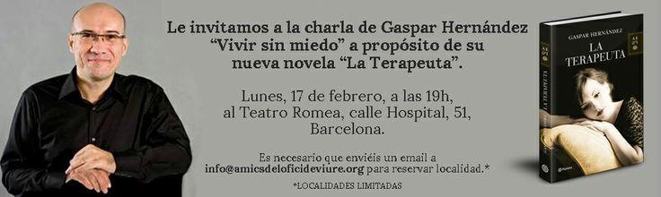 """Charla sobre """"Vivir sin miedo"""" lunes 17 de febrero en el teatro Romea. ¡Apúntate!"""