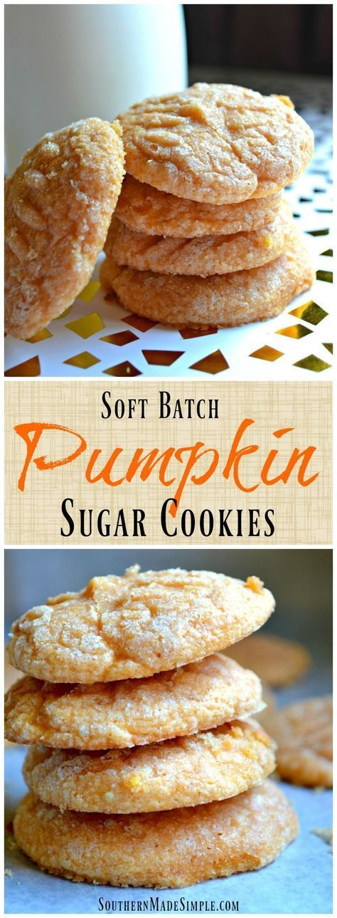 Soft Batch Pumpkin Sugar Cookies – These cookies are a perfect Fall treat! They&…