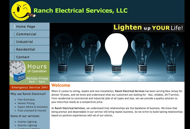 This was a new website design for a New Jersey electrical contractor. It is somewhat dated now but still earns a place in my portfolio.