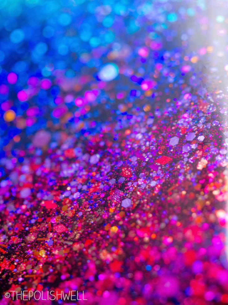 Ombre Glitter Eye Makeup Brushes Set Rose Gold In Make Up: Pink Purple Ombré Glitter Bokeh