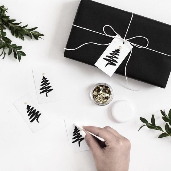 Love being crafty? Go all out on your gift tags this year with this cute handmade tag idea. Super simple yet effective, you'll have everyone asking where you got these from.