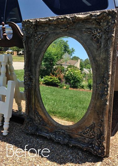 Giant Ornate Mirror Update (& my favorite tool for painting all those details!)