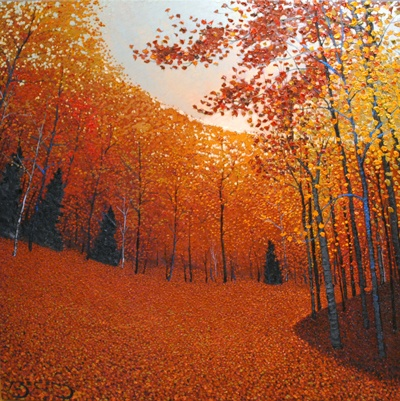 """Around the Bend"" - painting by Mark Berens at Crescent Hill Gallery"