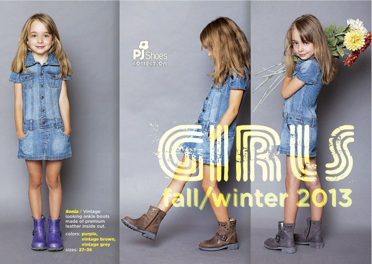 Vintage leather boots for girls