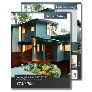22 Best Real Estate Flyer Templates Images On Pinterest | Real