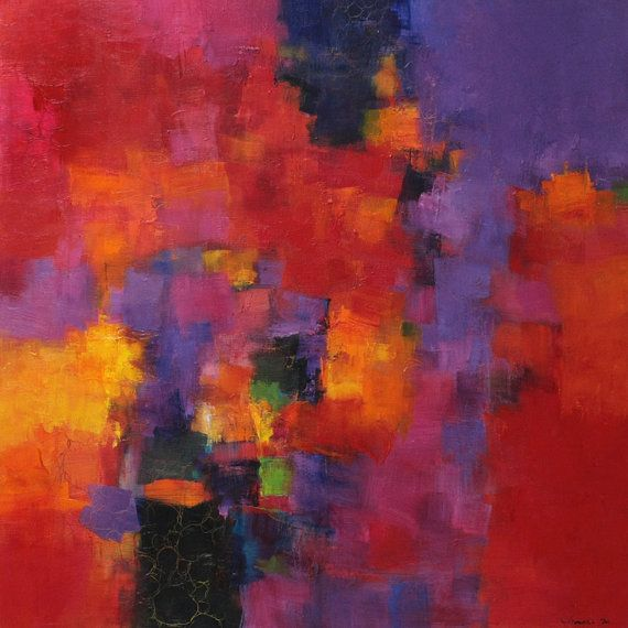 September 2013 - 2 - Original Abstract Oil Painting - 72.7 cm x 72.7 cm (app. 28.6 inch x 28.6 inch)
