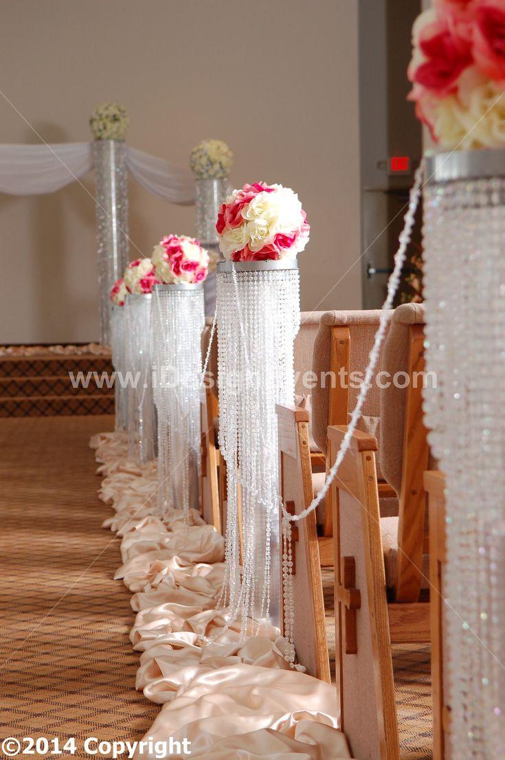 3 Feet Iride Rd Scent Wedding Aisle Decoration Crystal
