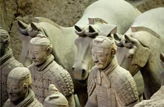 terra cotta soldiers of the qin China's first emperor, qin shihuang, planned to spend his afterlife buried in a palatial tomb, surrounded by all his worldly treasures to guard his mausoleum, he commissioned an army of terracotta warriors unlike anything seen before or since born into war conquest shaped emperor qin shihuang an.