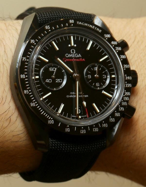 Omega Speedmaster Co-Axial Chronograph Dark Side Of The Moon Watch Hands-On   Video
