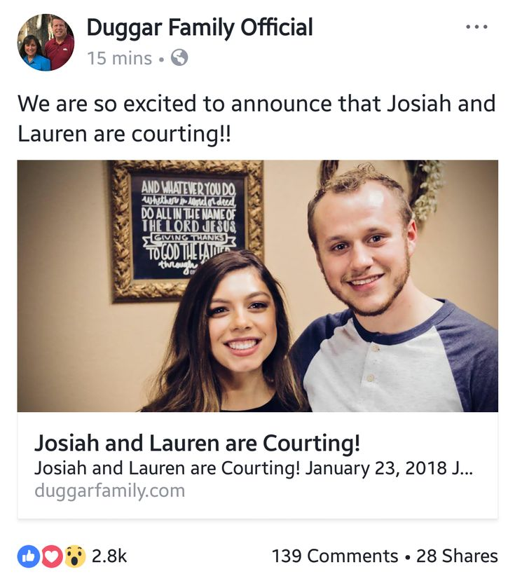 Josiah and Lauren Swanson are courting wedding by the end of 2018 or July