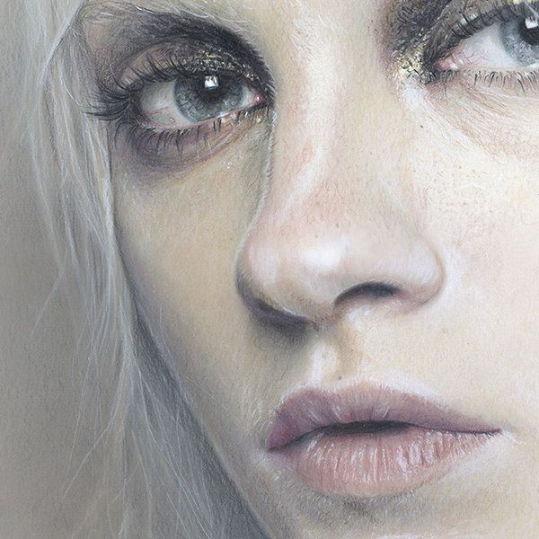 Uncredited portrait. Drawing eyes.                                                                                                                                                     More