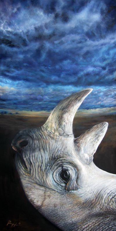 Last rhino - acrylic on canvas by Roberto Rizzo | www.robertorizzo.com